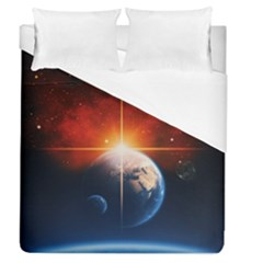 Earth Globe Planet Space Universe Duvet Cover (queen Size)
