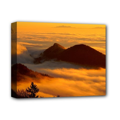 Fog Clouds Sea Of Fog Mountain Deluxe Canvas 14  X 11  (stretched) by Celenk