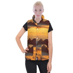 Fog Clouds Sea Of Fog Mountain Women s Button Up Vest