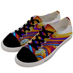 Soap Bubble Color Colorful Men s Low Top Canvas Sneakers by Celenk