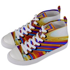 Soap Bubble Color Colorful Women s Mid Top Canvas Sneakers by Celenk