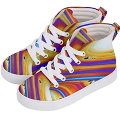 Soap Bubble Color Colorful Kid s Hi Top Skate Sneakers by Celenk
