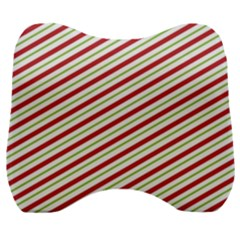 Stripes Striped Design Pattern Velour Head Support Cushion by Celenk