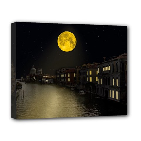 Travel Architecture Tourism Venice Deluxe Canvas 20  X 16  (stretched)