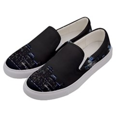 New York Skyline New York City Men s Canvas Slip Ons by Celenk