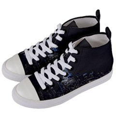 New York Skyline New York City Women s Mid Top Canvas Sneakers by Celenk