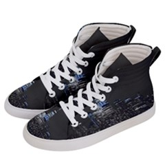 New York Skyline New York City Women s Hi Top Skate Sneakers by Celenk