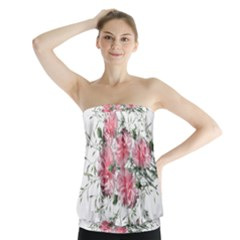 Carnations Flowers Nature Garden Strapless Top