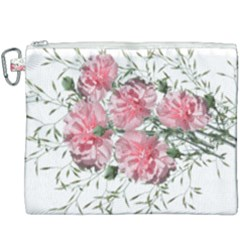 Carnations Flowers Nature Garden Canvas Cosmetic Bag (xxxl) by Celenk