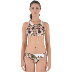 Sun Daisies Leaves Flowers Perfectly Cut Out Bikini Set