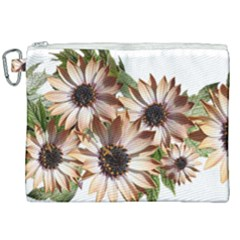 Sun Daisies Leaves Flowers Canvas Cosmetic Bag (xxl) by Celenk