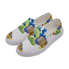 Tropical Fish Pattern2 Women s Canvas Slip Ons by ShirtsandGiggles