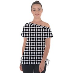 Chessboard 18x18 Rotated 45 40 Pixels Tie Up Tee