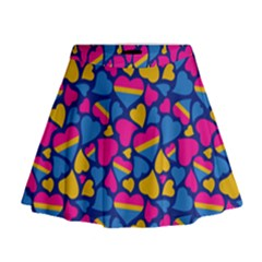 Pansexual Pride Hearts; A Cute Pan Pride Motif! Mini Flare Skirt by PrideMarks