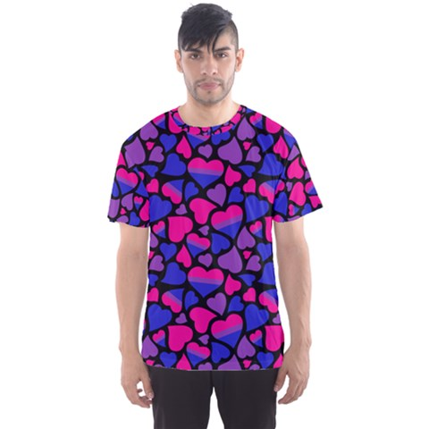 Bisexual Pride Hearts Men s Sports Mesh Tee by PrideMarks