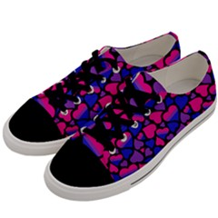 Bisexual Pride Hearts; A Cute Bi Pride Motif! Men s Low Top Canvas Sneakers by PrideMarks