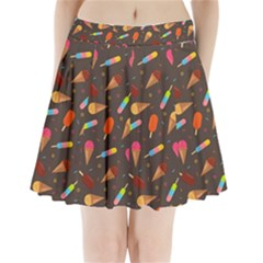 Ice Cream Pattern Seamless Pleated Mini Skirt