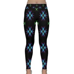 Background Abstract Vector Fractal Classic Yoga Leggings