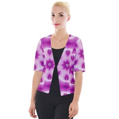 Pattern Abstract Background Art Cropped Button Cardigan