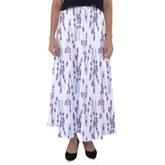 Flower Pattern Pattern Design Flared Maxi Skirt