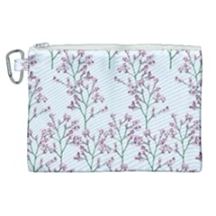 Flower Pattern Pattern Design Canvas Cosmetic Bag (xl)
