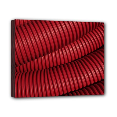 Tube Plastic Red Rip Canvas 10  X 8  (stretched)