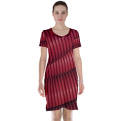 Tube Plastic Red Rip Short Sleeve Nightdress by Celenk