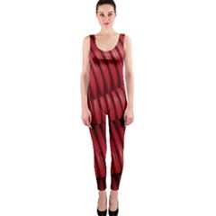 Tube Plastic Red Rip One Piece Catsuit by Celenk