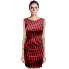 Tube Plastic Red Rip Classic Sleeveless Midi Dress by Celenk