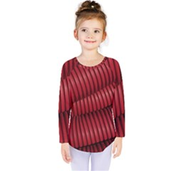 Tube Plastic Red Rip Kids  Long Sleeve Tee