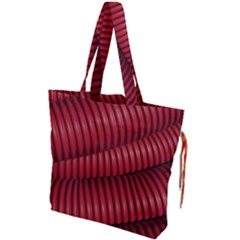 Tube Plastic Red Rip Drawstring Tote Bag