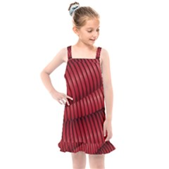 Tube Plastic Red Rip Kids  Overall Dress