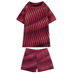 Tube Plastic Red Rip Kids  Swim Tee And Shorts Set by Celenk
