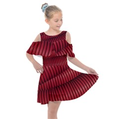 Tube Plastic Red Rip Kids  Shoulder Cutout Chiffon Dress by Celenk