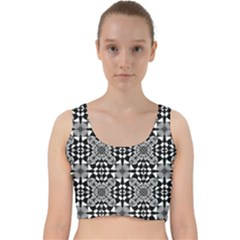 Fabric Design Pattern Color Velvet Racer Back Crop Top