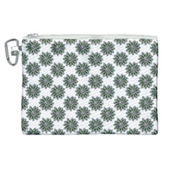 Graphic Pattern Flowers Canvas Cosmetic Bag (xl) by Celenk