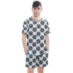 Graphic Pattern Flowers Men s Mesh Tee And Shorts Set by Celenk