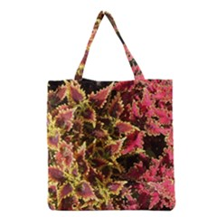Plant Leaves Foliage Pattern Grocery Tote Bag by Celenk