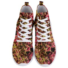 Plant Leaves Foliage Pattern Men s Lightweight High Top Sneakers