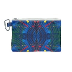Kaleidoscope Art Pattern Ornament Canvas Cosmetic Bag (medium) by Celenk