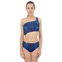 Kaleidoscope Art Pattern Ornament Spliced Up Two Piece Swimsuit