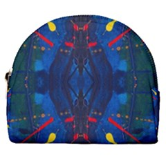 Kaleidoscope Art Pattern Ornament Horseshoe Style Canvas Pouch