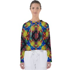 Kaleidoscope Art Pattern Ornament Women s Slouchy Sweat by Celenk