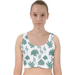 Flower Pattern Pattern Design Velvet Racer Back Crop Top