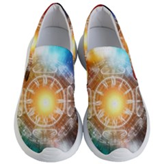 Universe Galaxy Sun Clock Time Women s Lightweight Slip Ons