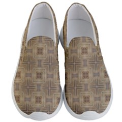 Abstract Wood Design Floor Texture Men s Lightweight Slip Ons