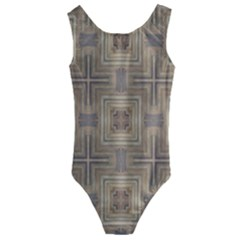 Abstract Wood Design Floor Texture Kids  Cut Out Back One Piece Swimsuit
