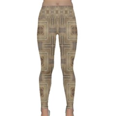 Abstract Wood Design Floor Texture Lightweight Velour Classic Yoga Leggings