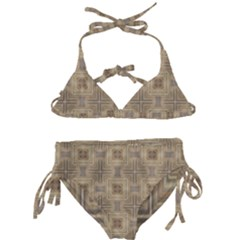 Abstract Wood Design Floor Texture Kids  Classic Bikini Set