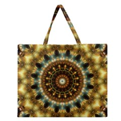 Pattern Abstract Background Art Zipper Large Tote Bag by Celenk